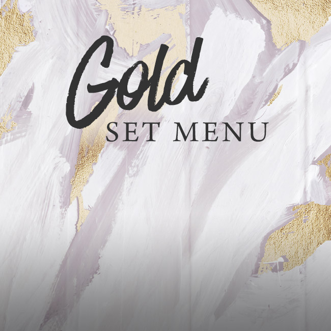 Gold set menu at The Midland