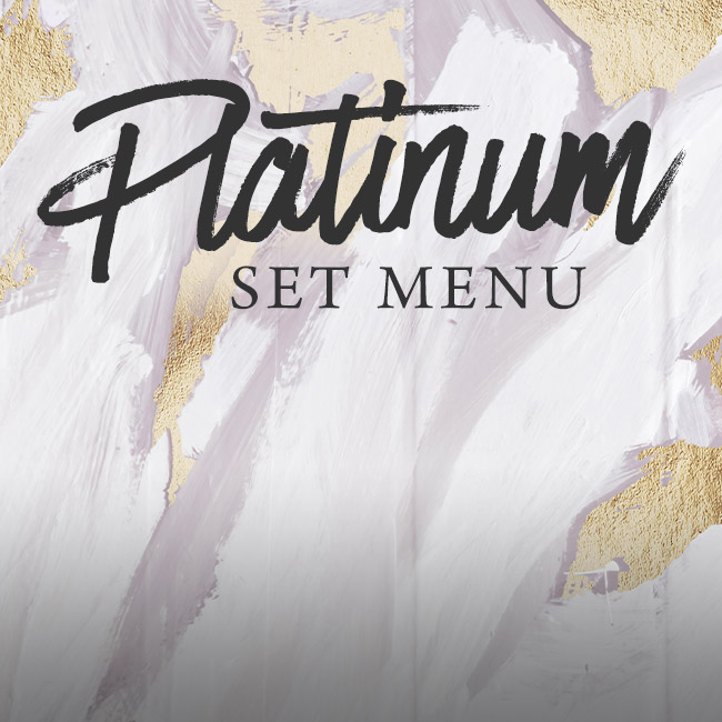 Platinum set menu at The Midland